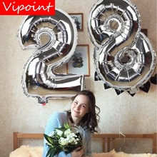 VIPOINT PARTY 16/32inch gold silver blue number foil balloons wedding event christmas halloween festival birthday party FD-18