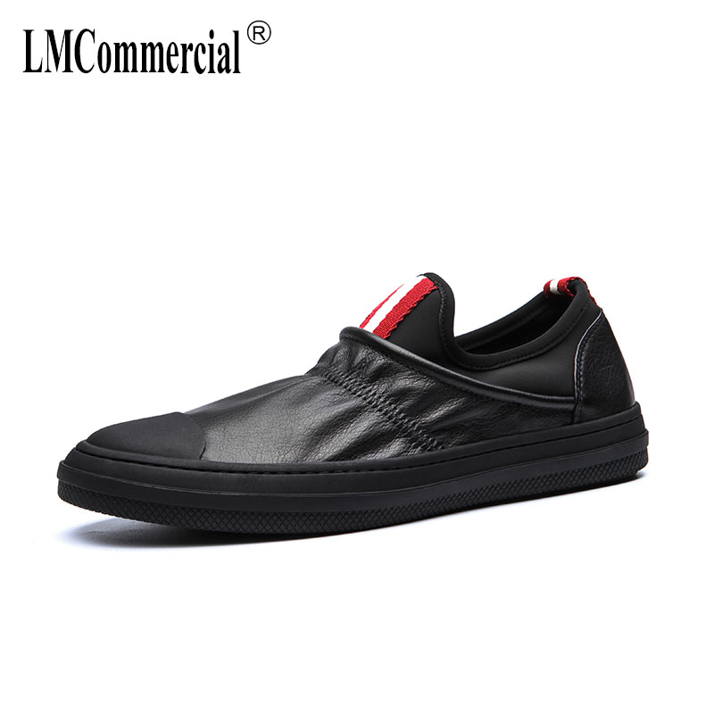 spring autumn summer new all-match youth men's flat shoes all-match cowhide British retro men casual shoes Leisure shoes male spring summer new style leather casual shoes slip on all match men flat shoes british style high quality anti odor men shoes