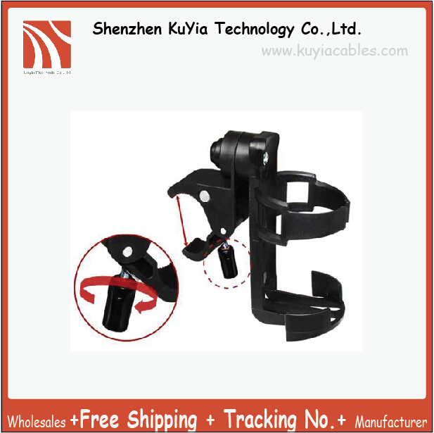 Free Shipping+Bike Water Bottle Cage Mount Drink Cup Holder for Cycling Adjustable 360 Degree Fit All Stroller Extra Storage