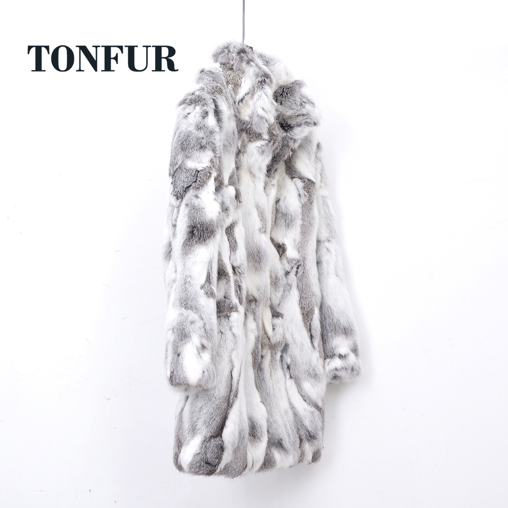 2019 New Arrival Standard Collar Vintage Customize Made Plus Size Real Whole Rabbit Fur Coat Female Jacket WSR257