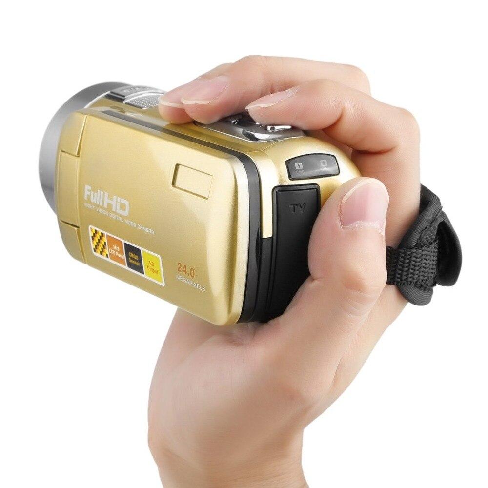 CHAUDE Portable Vision Nocturne Full HD 1920x1080 3.0 pouce 24MP Écran LCD 18X Zoom Numérique Caméra Vidéo Caméscope mini DV