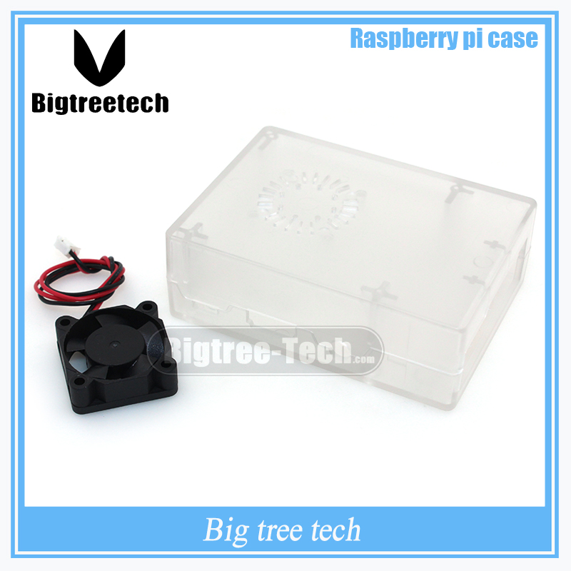 New Raspberry Pi  ABS Clear color case  Plastic Box with Cooling  Fan module  For Raspberry Pi 2 & Raspberry Pi model b plus &3