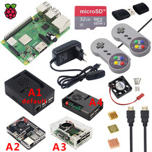 Original Raspberry Pi 3 Model B Plus WiFi&Bluetooth + Case + Fan + Power Supply + Heatsink for Raspberry Pi 3B Plus for Retropie(China)