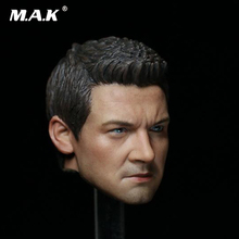 все цены на 1/6 Scale Male Head Sculpt Captain America Civil War HAWKEYE Jeremy Renner Head Carved Accessory for 12'' Man Figure Body онлайн