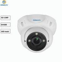 4MP AHD 1/3 OV4689 Sensor AHD Camera Security Surveillance Camera 3PCS Array Night Vision CCTV Metal Dome Camera AR AHD2304H4
