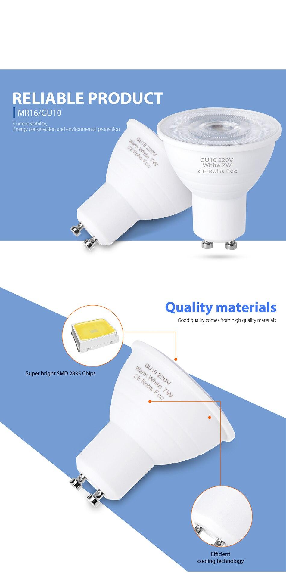 7 w, ampola gu 10 peças lâmpada
