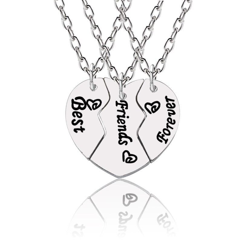 Set For 2 Pcs Letter Necklace Friendship Bff Pendant