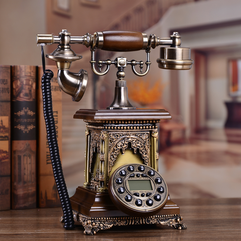 New style antique , European antique , solid wood, telephone
