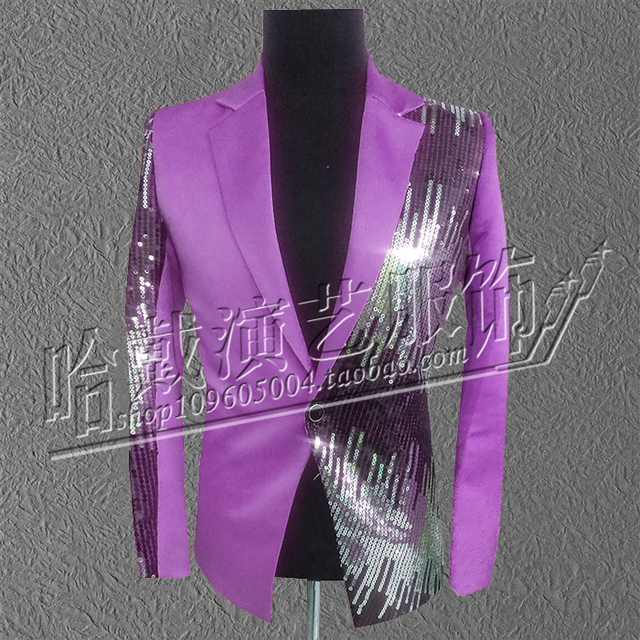 S-6XL !  2018  Big yards stage costumes   male formal dress red paillette costume male dj costume  The singer's clothing