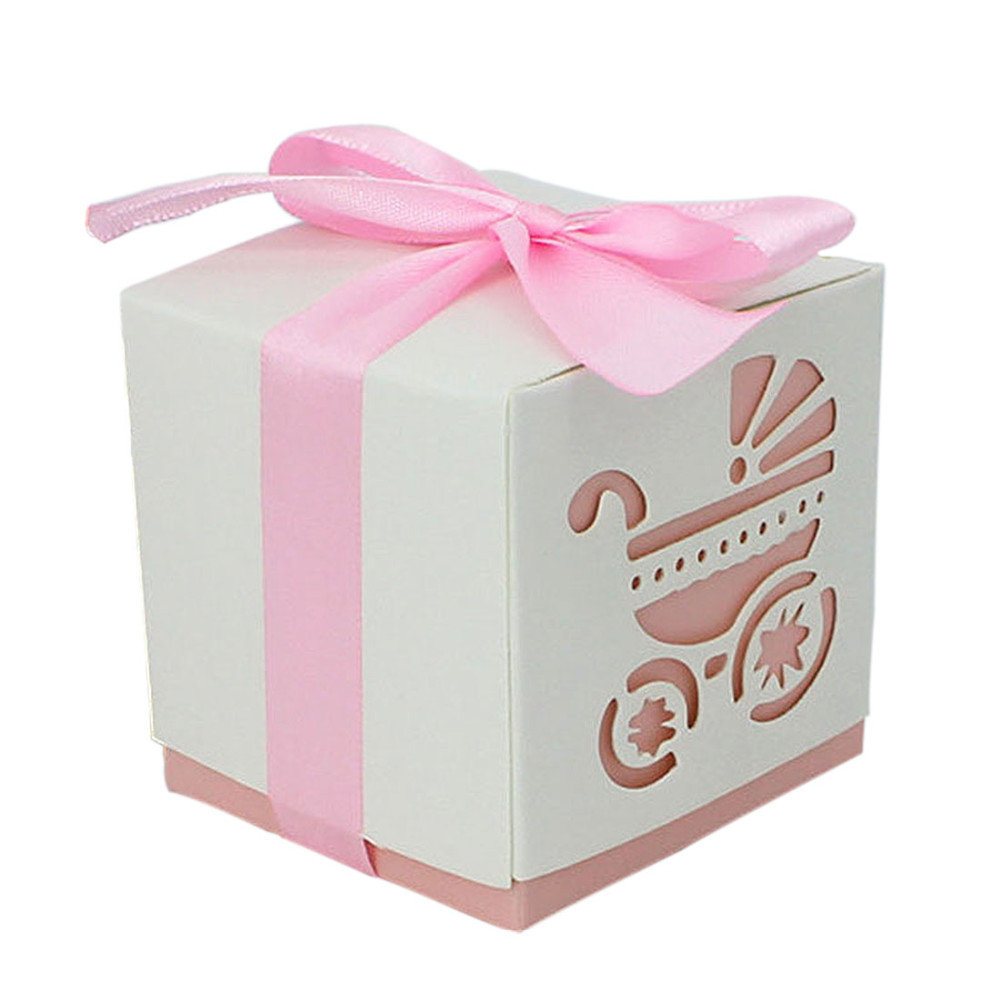 50pcs BB Carriage Printing DIY Paper Wedding Gift Christening Baby ...