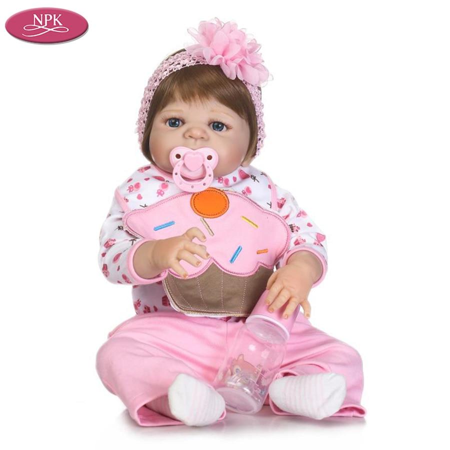 Real Toys For Girls : Npk cm lifelike reborn baby doll girl bath toys real