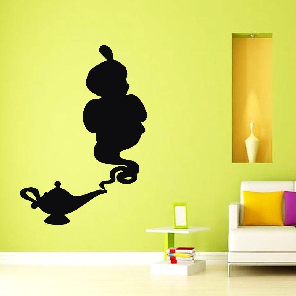 Наклейки на стены виниловая наклейка Стикеры Книги по искусству фрески  Домашний Декор Лампа Алладина genie 90cdf900673