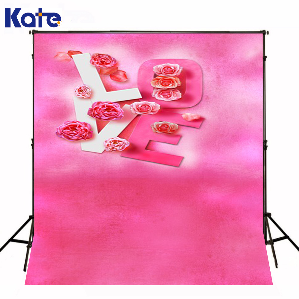 Photo Background Love Rose Pink Photography Backdrop Wedding Background Valentine'S Day Backdrops Funds Study Photography Kate 8x10ft valentine s day photography pink love heart shape adult portrait backdrop d 7324