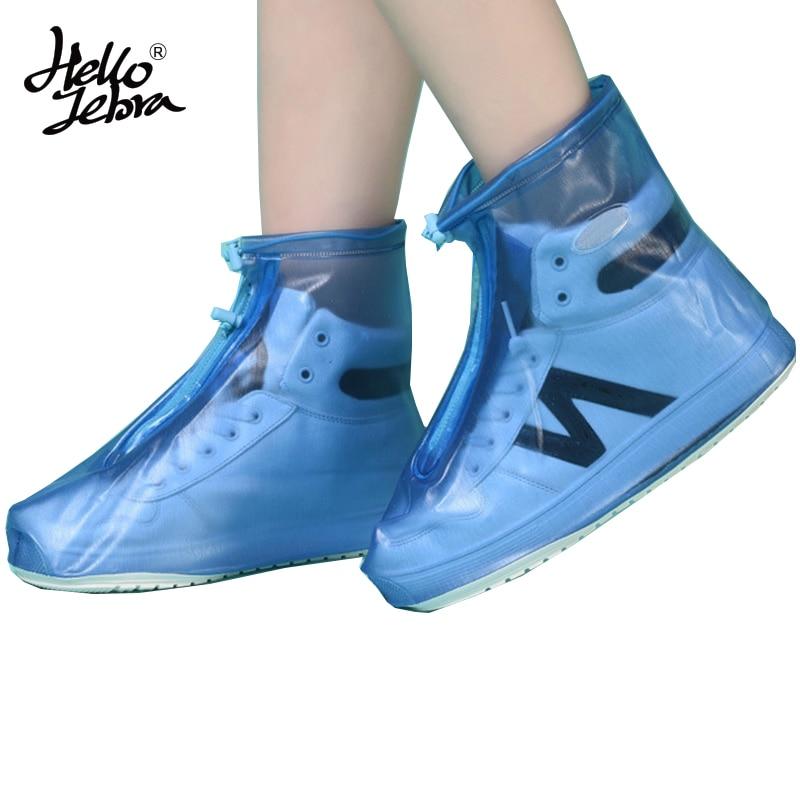 Hellozebra nuevo mujeres lluvia Zapatos cubre botines plana