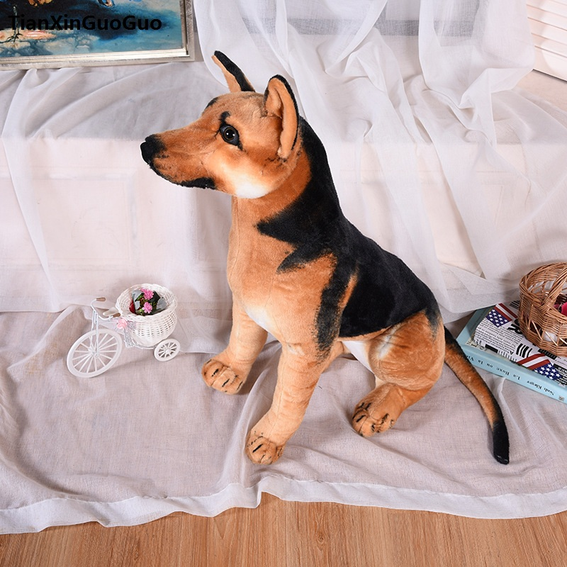 simulation wolfhound plush toy lovely German shepherd dog sounds bark large 64cm soft doll throw pillow birthday gift s0438 fancytrader 120cm super lovely jumbo plush shar pei dog toy large dog doll sleeping pillow gift for child free shipping ft50048