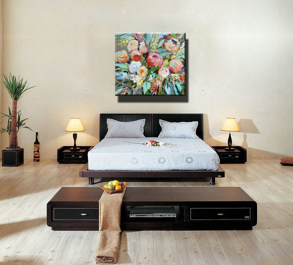 Famous Artist Acrylic Paint Bedroom Abstract Modern Canvas Art Handmade  Decorative Flower Oil Painting Canvas For Living Room In Painting U0026  Calligraphy From ...