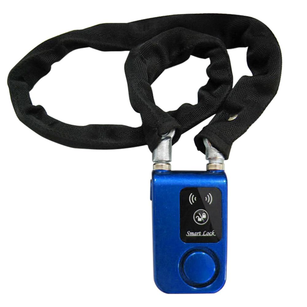 Smartphone Anti Theft Chain Smart Lock Bluetooth Bicycle Waterproof Alarm Control