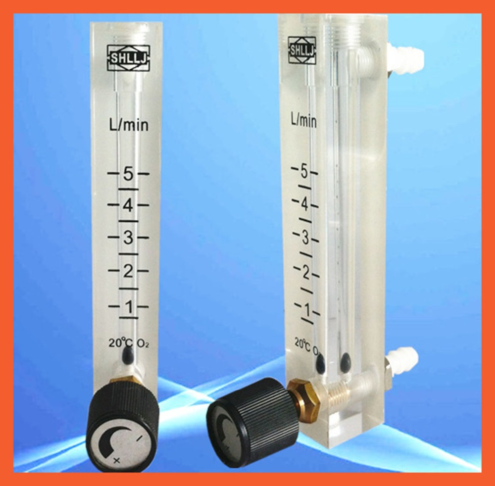 LZQ-7(1-5)LPM air flow meter(H=120mm gas flow meter)with control valve for Oxygen conectrator,it can adjust flow LZQ7 flowmeter  цены