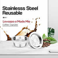 Novos Filtros De Café Recarregáveis Para Lavazza UM Modo Mio Reutilizável de Aço Inoxidável Máquina de Café Cápsula Pod Chá Suportes