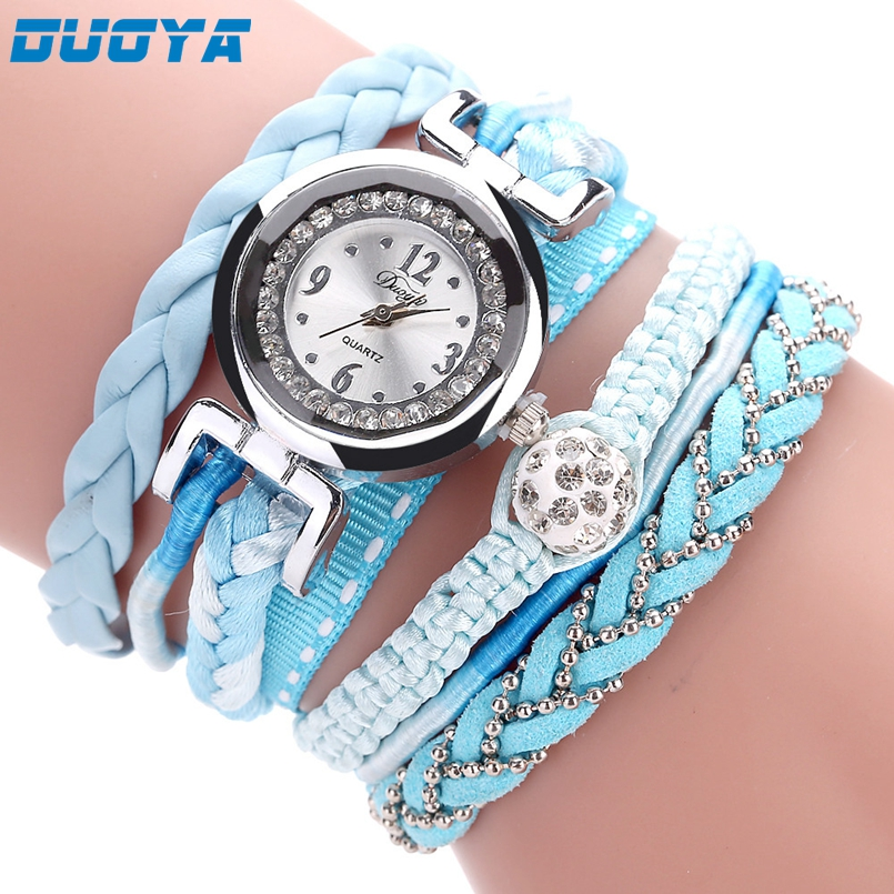 Duoya Women Bracelet Watch Quartz Watch Wristwatch Women Dress Leather Bracelet Watches Montre Femme s33