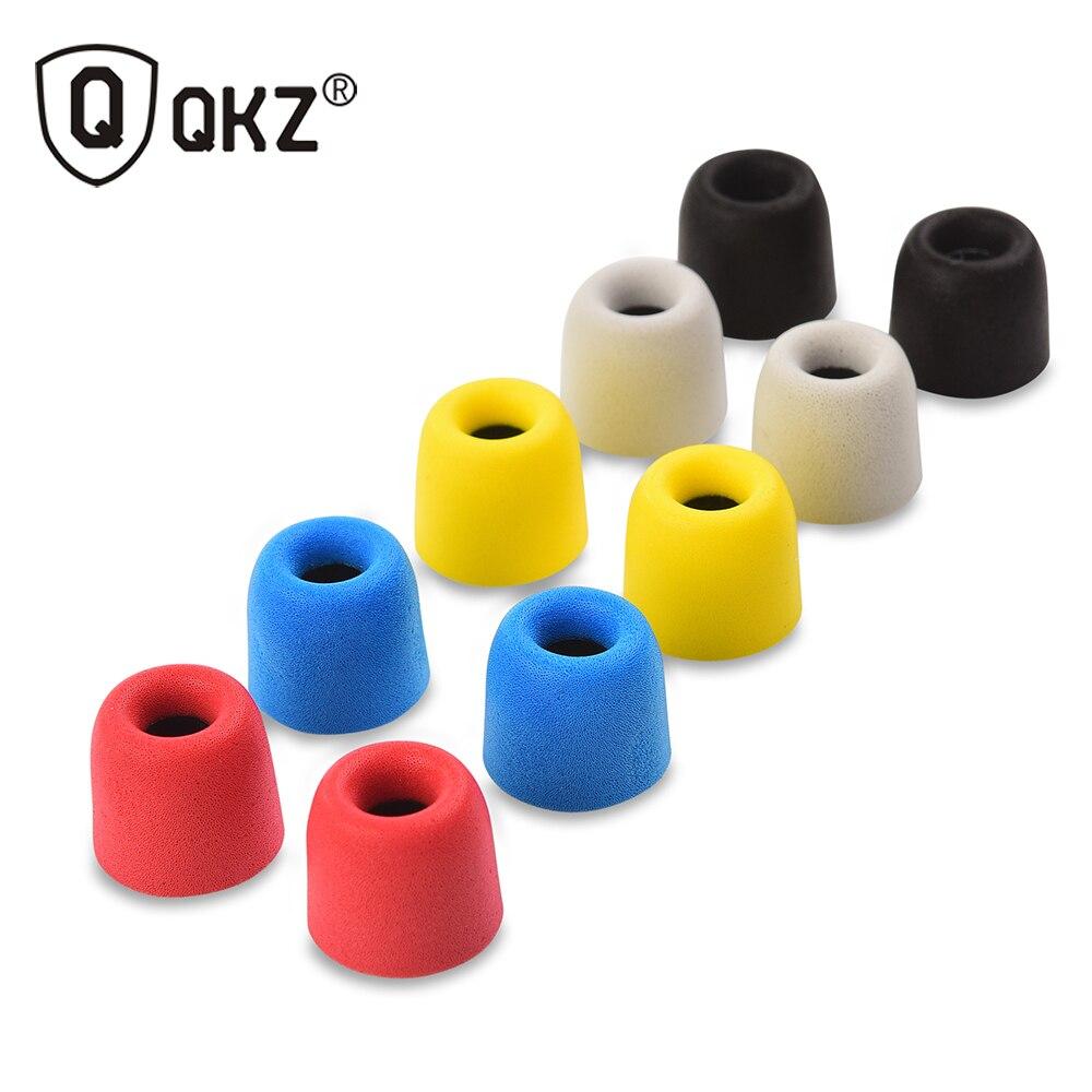 QKZ T400 10 stücke Kopfhörer tipps Memory Foam QKZ Original 5 Pairs schaum tipps T400 Ohrpolster für alle in ohr kopfhörer headset kopfhörer