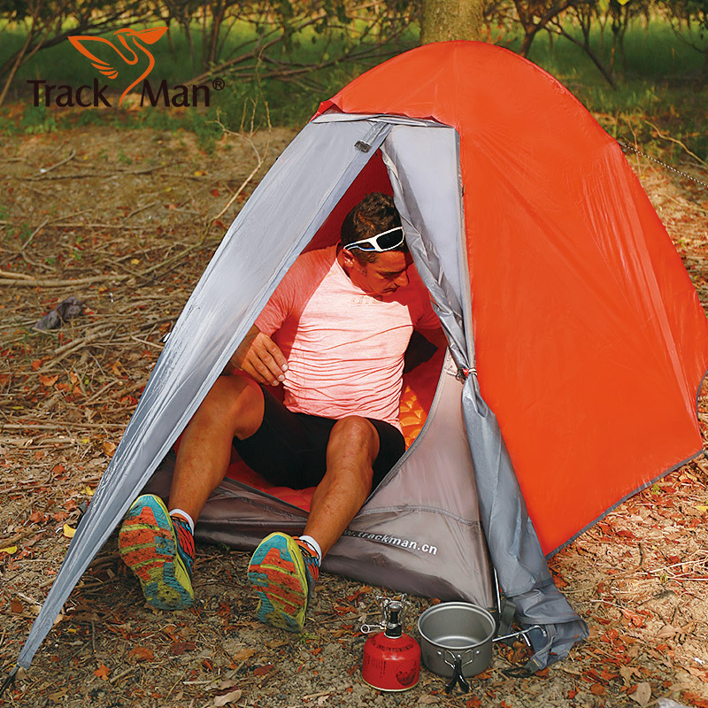 Trackman Camping Tent 1 Person Double Layers 3 Season Tent ...