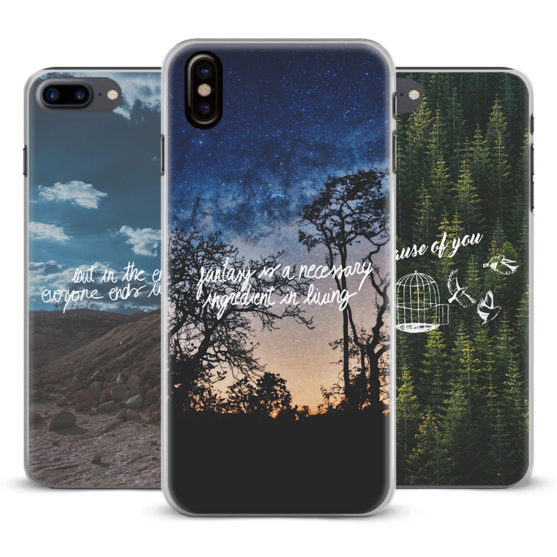 Nature song lyrics music quotes Coque Phone Case Cover Shell For Apple iPhone 5 5s Se 6 6Plus 6s 6sPlus 7 7Plus 8 8Plus X