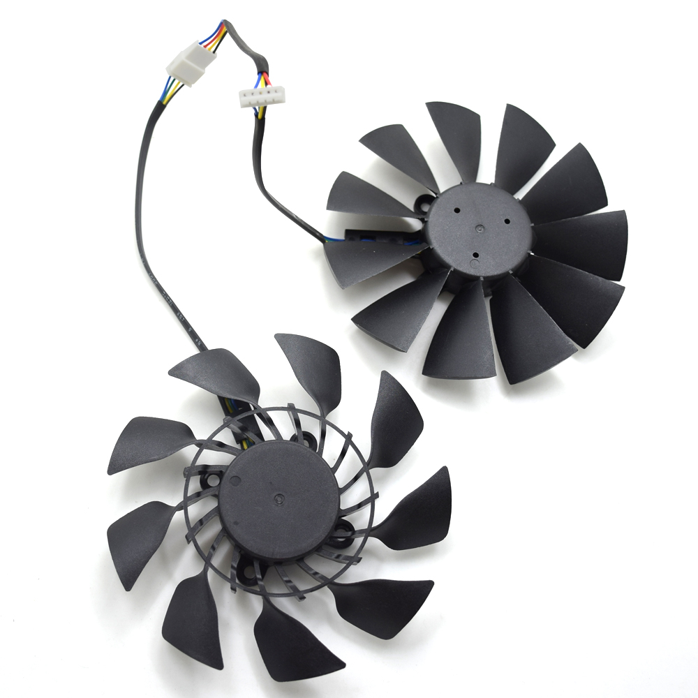 New 95mm T129215SU 0 5A Cooler Fan Replace For ASUS R9 280X 290 290X 390  390X GTX 780 780Ti 970 980 Graphics Card Cooling Fans