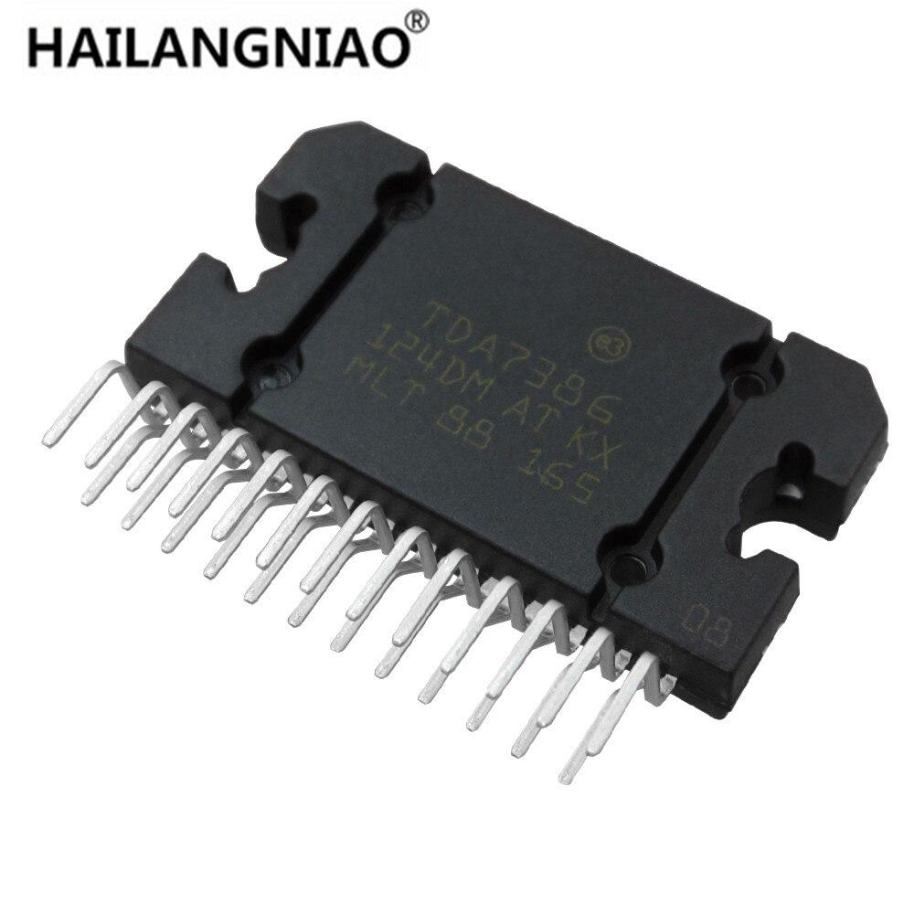 HAILANGNIAO 10PCS TDA7386 ZIP25 SIP25 new 4 x 45W quad bridge car radio amplifier