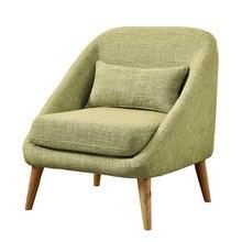 Офисные диваны для офиса мебель из массива дерева+ льняные диван стулья один/два три места секционные наборы диван, кресло- sillones Горячий