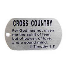 cheap Cross Country Stainless Steel Dog Tag Necklace-II Timothy 1-7 hot sales custom cross steel dog tags necklace