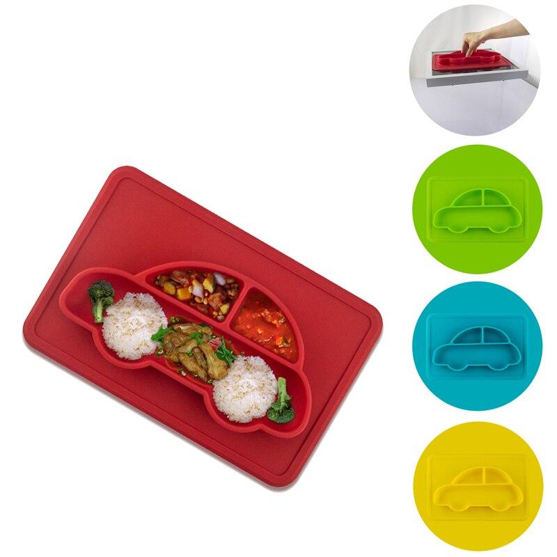 Кормить ребенка миски плиты посуда дети контейнер столовых блюд Assiette Enfant для Поильник ребенка силиконовые дети плиты