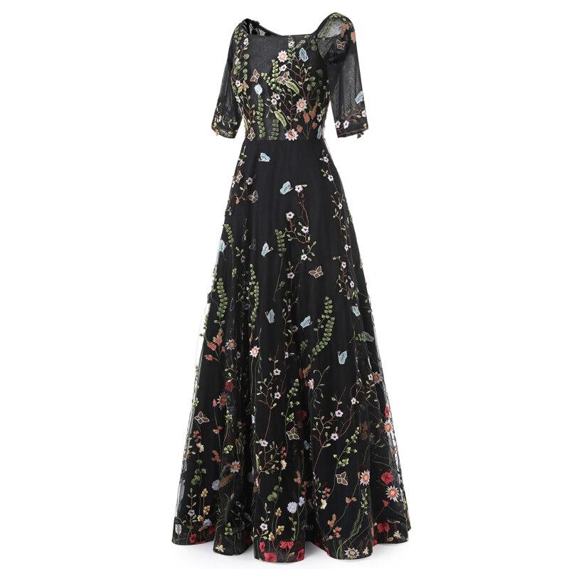 Sunvary Aangepaste Vintage Flower Embroidery Nieuwe avondjurken Tulle - Jurken voor bijzondere gelegenheden - Foto 3