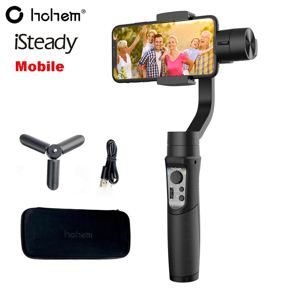 Hohem stabilisateur de cardan pour Smartphone portable 3 axes iSteady pour iPhone X 8 Plus 8 7 P Samsung S9 S8 Pk Zhiyun lisse 4 Feiyu