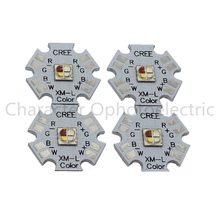 10w Cree XLamp XM-L XML RGBW RGB White or RGB Warm White Color High Power LED Emitter 4-Chip 20mm Star PCB Board 10pcs lot cree xlamp xml u2 10w led emitter cold white 6000k 6500k with 20mm star base for led flashlight