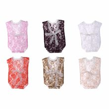 Newborn Baby Girls Lace Deep-V Backless Romper Jumpsuits Photography Prop Outfit Baby Gift(China)