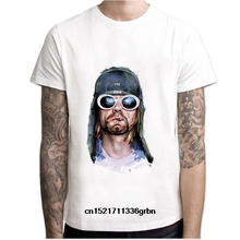 5558ec4fb Men t shirt Kurt Cobain O Neck white TShirts For man Top Tees M7R1426 t-shirt  women