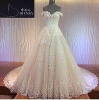 Capela Trem Vestidos de Casamento do vintage 2018 Elegante Custom Made Branco Marfim Lace A Linha de Vestidos de Noiva