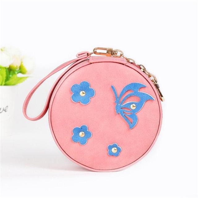 Malá okrúhla šperkovnica MOTÝĽ 5farieb Small Jewelry Box BUTTERFLY 5colors