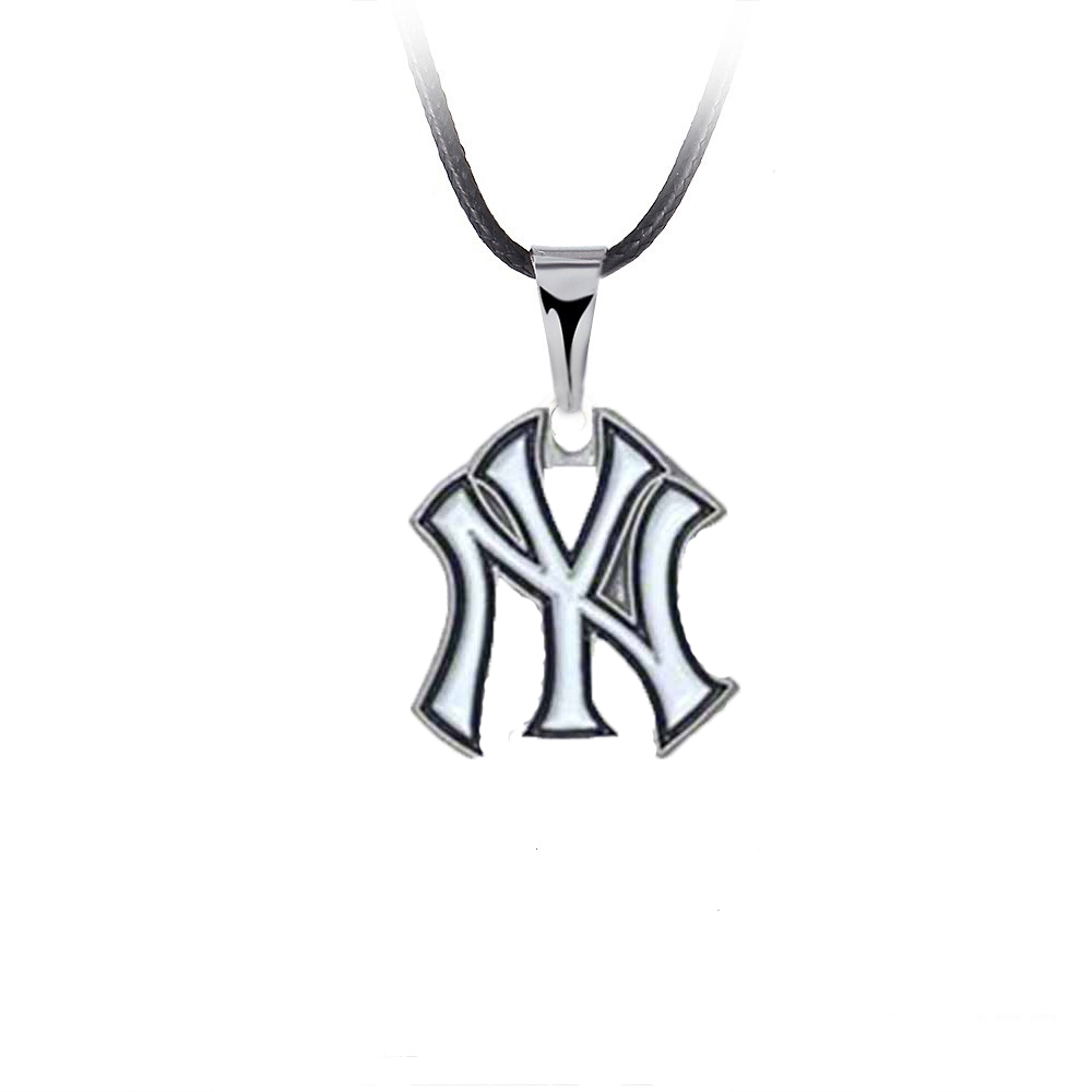 10PCS Fashion Baseball Charm Pendant Necklace Alloy Enamel NY Yankees Dangle Charms Necklace Statement Accessories