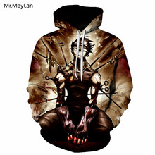 Anime Tokyo Ghoul Print 3D Hoodie 2018 New Design Mens Hooded Sweatshirts Hip Hop Fashion Streetwear Hoodies Men Women Hoody