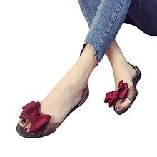 2018 sommer Neue Favolook Frauen Bogen Blume Jelly Strand Casual sandalen  Flip Flops Flache Schuhe Mode 5773dc8bdead