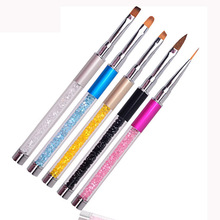 Phototherapy Pen Drawing Brushes Manicure Tools Carving Light Therapy Pen Nail Art Pen DIY Painting Flower
