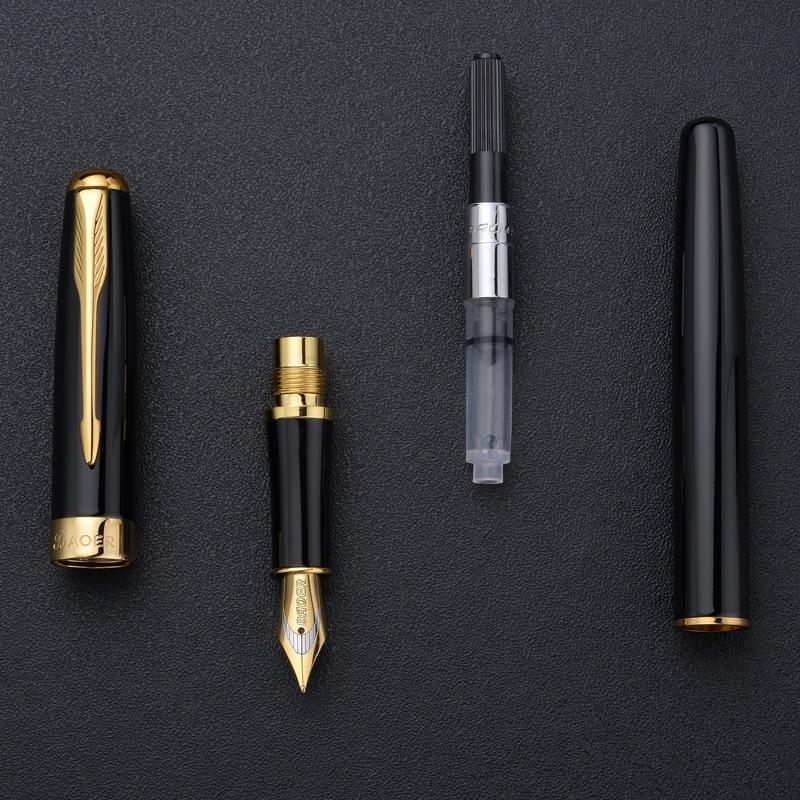 Baoer-Fountain-Pen-New-Fashion-Black-Luxury-Ink-Pen-High-Quality-Metal-Golden-Clip-Pens-Office(3)