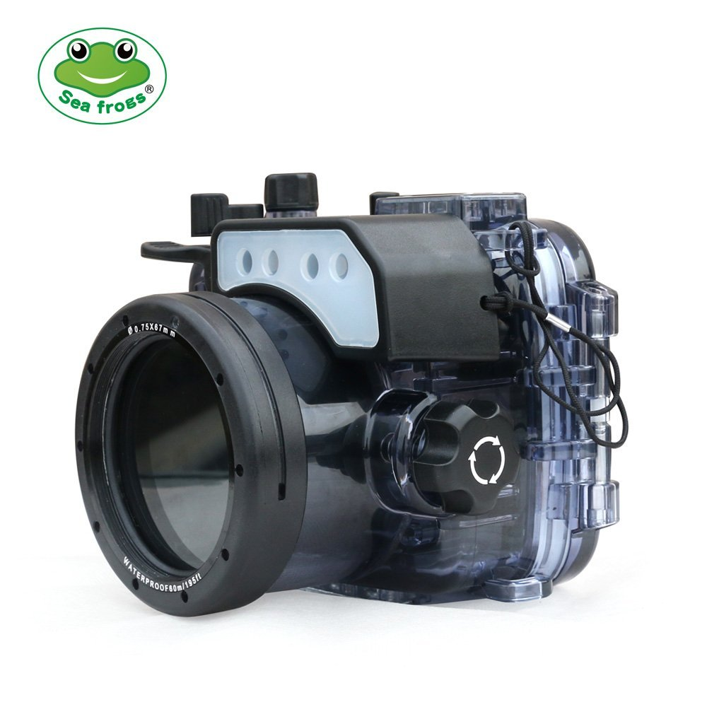 Seafrogs 60m 195ft Underwater Camera Housing Case Waterproof Camera Bag For Sony RX100 RX100 II RX100
