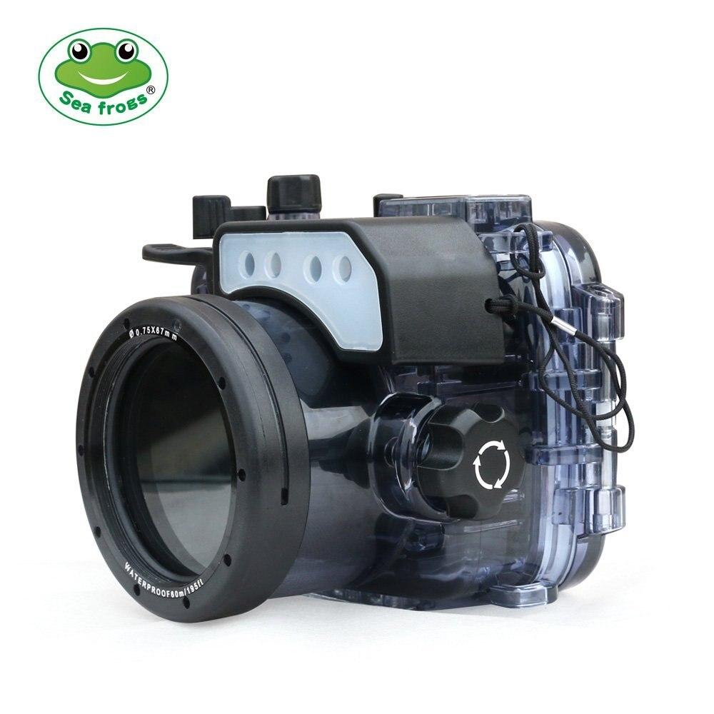 Sac de boîtier de caméra sous-marine de 60 m/195ft de gens de mer sac de caméra étanche pour Sony RX100/RX100 II/RX100 III/RX100 IV/RX100 V M2 M3