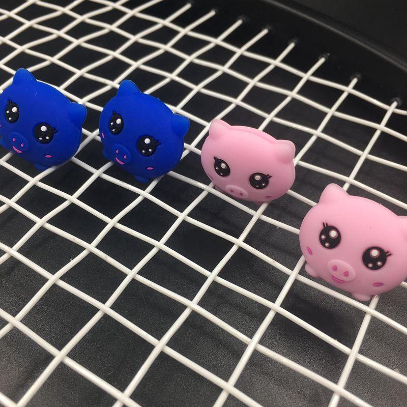 1 PC Retail Cuties Pig Tennis Damper Shock Absorber To Reduce Tenis Racquet Vibration Dampeners