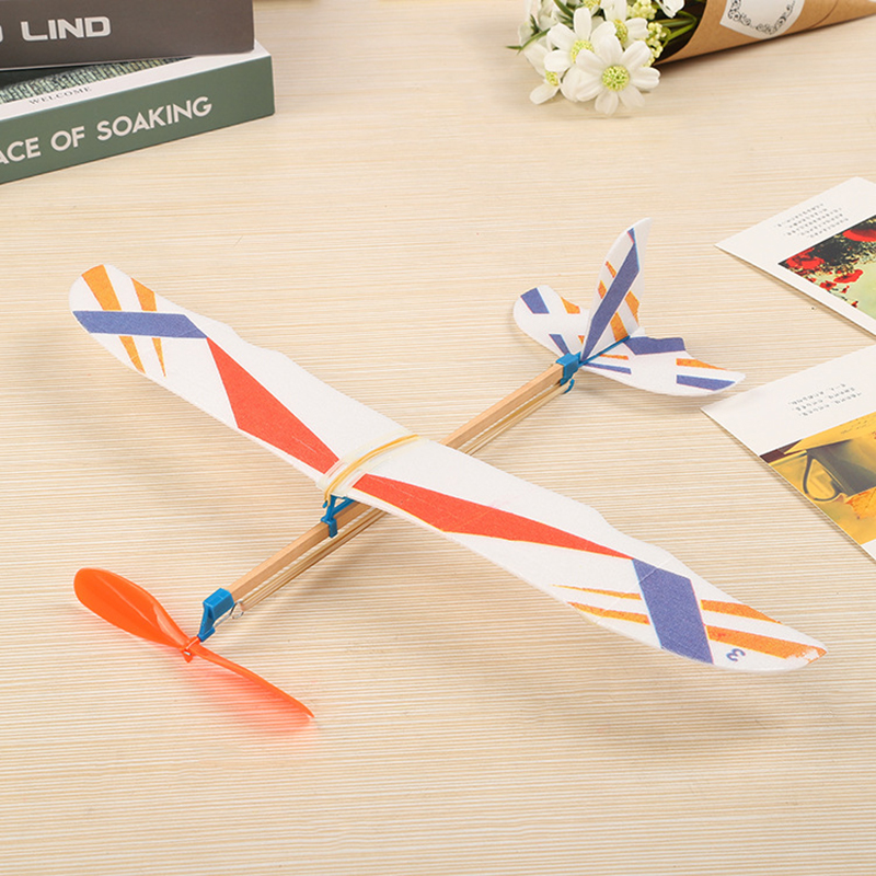 Small Thunderbird Rubber Band Power Aircraft Glider RC Model Handmade DIY Children's Educational Toys Student Science Gift image