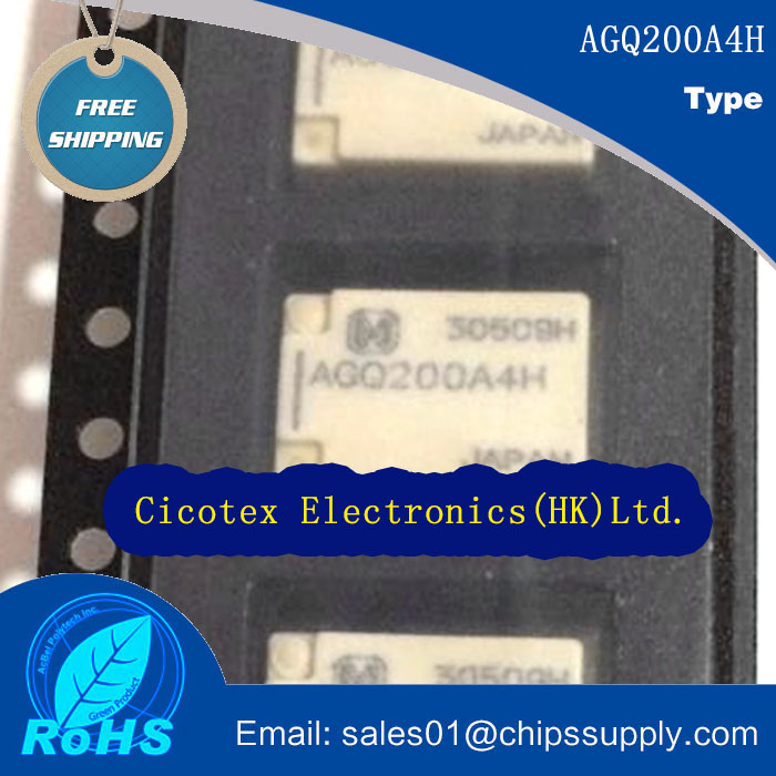 10pcs/lot AGQ200A4HZ 200 RELAY TELECOM DPDT 2A 4.5V