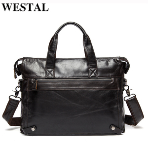 WESTAL Men Briefcases Genuine